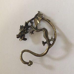 Jewelry - CLIMBING WHOLE EAR BRONZE TONE DRAGON EARRING